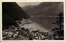 Hallstatt Salzkammergut Oberösterreich s/w Postkarte 1928 gelaufen Gesamtansicht