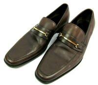 BOSS Hugo Boss Mens US 12 Carl Bit Loafer Slip On Dress Shoes Brown 50130569