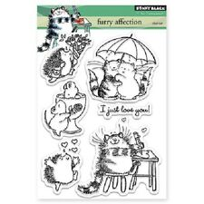 PENNY BLACK RUBBER STAMPS CLEAR FURRY AFFECTION STAMP SET NEW 2015