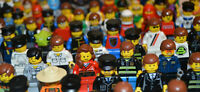 5x LEGO Minifigures Genuine Mixed Bundle With Hair & Hat Accessories