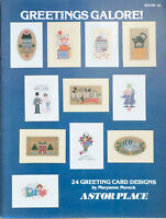 Astor Place Cross Stitch Pattern Book 16 24 Greeting Card Designs Moreck