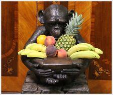 Bronze Affe Bonobo Schimpanse Darreiche Sekt Kühler