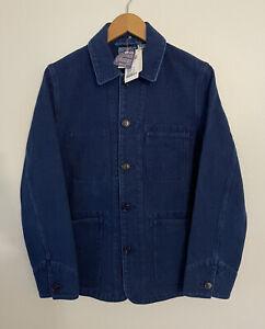 NWT $450 BLUE BLUE JAPAN Cotton-Canvas Chore Jacket | Indigo, Medium