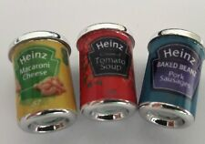 3 Pcs Dollhouse Miniatures Food & Groceries Supply Handcrafted Heinz Canned Food
