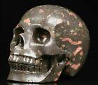 "Huge 5.1"" Plumite Carved Crystal Skull, Realistic, Crystal Healing"
