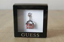 Brand New Boxed GUESS Diamante Handbag Charm for Bracelet Red & Black