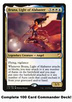 MTG Commander EDH Deck Bruna, Light of Alabaster 100 Magic Cards Custom Deck