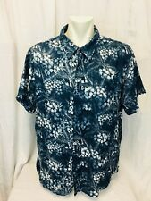Margaritaville Jimmy Buffet Short Sleeved Mens Hawaiian Shirt XXL Blue