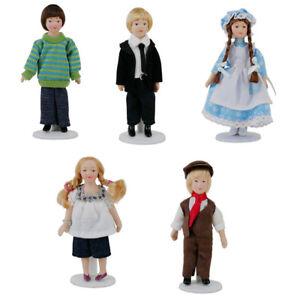 1:12 Dollhouse Miniature Porcelain Dolls Model Little Pretty Girls BoyODYU