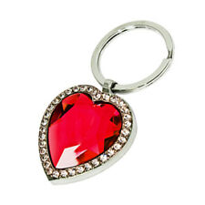 Heart Jewelery Key Chain-Red Stone With giftbox Lot of 4