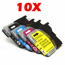 10x Ink Cartridges LC39 LC985 for Brother DCP J125 J315W J515W MFC J220 Printer