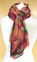 Intrigue Ladies Scarf New With Tags Shawl Large Pink Floral Lightweight Gift