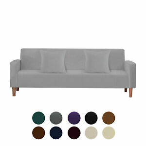 Velvet Sofa Cover Stretch 1/2/3/4 Seater with 2pcs Pillow Cases Couch Protector