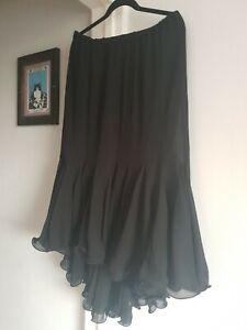Ann harvey skirt size 18 lined flared hem  black flamenco style