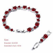 Fashion Jewelry Women Rhinestone Crystal Silver Bracelet Chain Length Adjustable