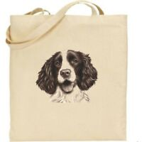 Springer Spaniel Tote Bag - Bag for life - Cotton - Dog gifts