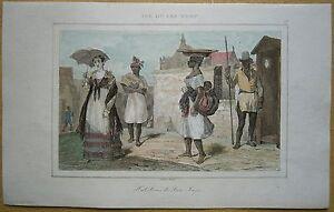 1848 print INHABITANTS OF SANTIAGO, CAPE VERDE (#13)