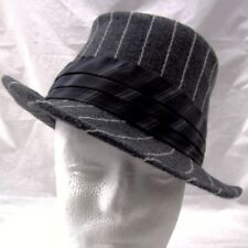 Christys Crown Series Hat Fedora Size Large Hatband Gray Striped Suave