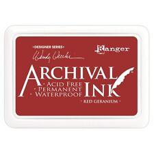 Archival ink pad red geranium