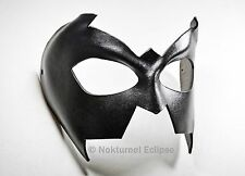 Nightwing Black Leather Mask Batman Superhero Batgirl Halloween Costume Unisex