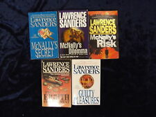 5 TENSE & BRILLIANTLY PLOTTED NOVELS BY LAWRENCE SANDERS ** UK POST £3.25 **