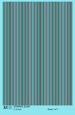 K4 HO Decals Black 3/64 Inch Stripes Set