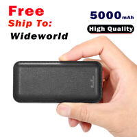 Super Mini Power Bank 5000mAh Built in USB Output cable for samsung s7 S6 J3 J5