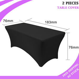 2X 6FT Rectangular Tablecloth Spandex Lycra Stretch Table Cover Wedding Party