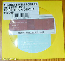 Tichy Train Group #10065 Decal for: Atlanta & West Point 40' Steel Single-Door B