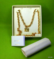 Escada Logo Necklace ANC Gold Plated Chain Couture