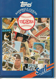 1987 Topps Surf Book Baseball Cards Detroit Tigers  A20