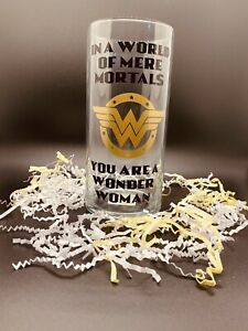 Wonder Woman Inspired Quote Flower Vase. Gift Girlfriend Wife Mother Daughter