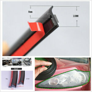 5M Rubber Sealing Strip Inclined T-shaped Fit For Car Headlight Side Skirt Edge