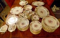 80 Pc Thomas Ivory Rosedale Bavaria China 12 Six Pc Settings + Serving Pcs
