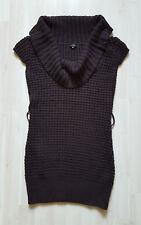 Strick-LongPulli Pullunder Pullover Minikleid Gr. S (36/38) dunkelbraun