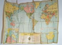Vintage 1960 Universal Map of the World Book Enterprises New York Wall Map 6158