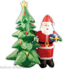 6 PIEDI DELUXE LIGHT UP Natale Babbo Natale & Albero Outdoor Gonfiabile Decorazione Giardino