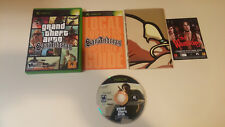 Grand Theft Auto: San Andreas (Xbox, 2005) with Poster and manual