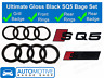Audi SQ5 Gloss Black Badge Grille & Boot Rear Badge Emblem Set Rings