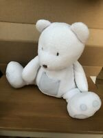 The Little White Company Medium teddy bear with Blue Pocket soft toy plush