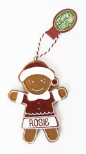 Gingerbread Christmas Tree Hanging Decorations Rosie