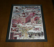1880 D. G. YUENGLING & SON BREWERY FRAMED COLOR PRINT