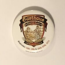 2011 Gasthaus Bavarian Hunter Oktoberfest Pinback Button Stillwater Minnesota