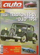 AUTO PASSION 11 S3 SIMCA 8 SPORT CABRIO CITROEN 15/6 OLEO 4CV RISPAL AMILCAR CGS