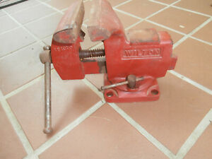"""VINTAGE WILTON 121072  4"""" SWIVEL BENCH VISE.. MADE IN USA"""