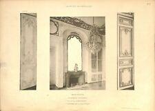 Appartement du Dauphin Cheminée Bibliothèque Château de Versailles GRAVURE 1899