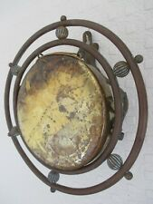 Beautiful Antique Stylised Copper Brass Arts and Crafts Wall Mounting Gong