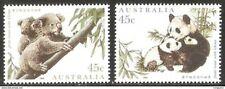 1995 AUSTRALIA-CHINA JOINT ISSUES KOALA AND PANDA 2V