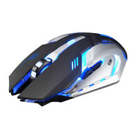 X7 Rechargeable Wireless Silent LED Backlit USB Optical Ergonomic Gaming Mouse A