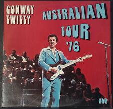 CONWAY TWITTY - AUSTRALIAN TOUR '76 R'N'R & COUNTRY 1976 OZ ONLY VINYL MCA